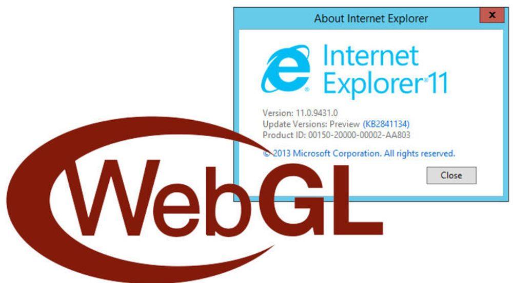 IE11 støtter 3D-grafikk