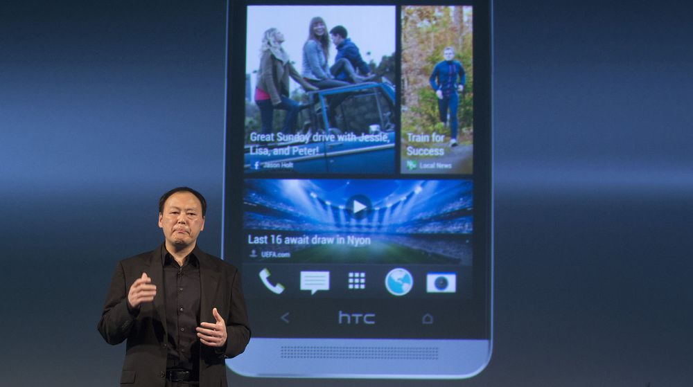 LØNNSKUTT: Peter Chou håper salget av avbildede HTC One kan snu de siste årenes redselsfulle utvikling for selskapet han leder.