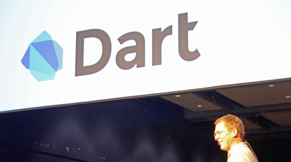 Lars Bak fra Google holdt et foredrag om programmeringsspråket Dart under JavaZone-konferansen i går.