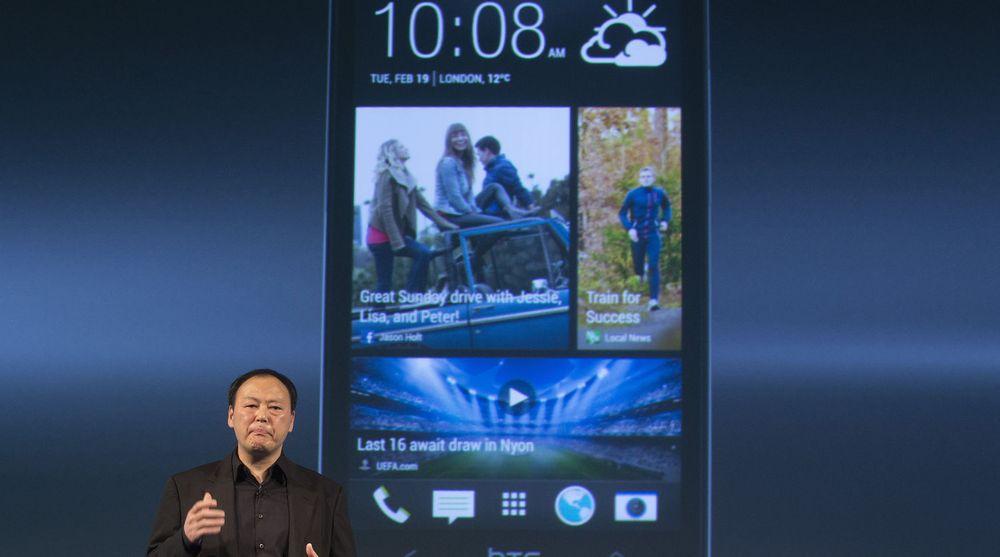 HTCs toppsjef, Peter Chou, lanserte flaggskipet One tidligere i år. Men salgsstarten er utsatt og resultatene uteblir.
