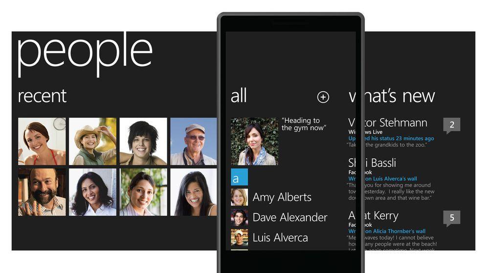 People Hub utgjør en del av Microsofts Put People First-visjon for Windows Phone.