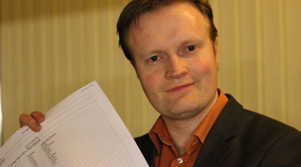 Øystein Jakobsen, leder i Piratpartiet, har sikret seg lister til alle landets fylker før stortingsvalget i høst.