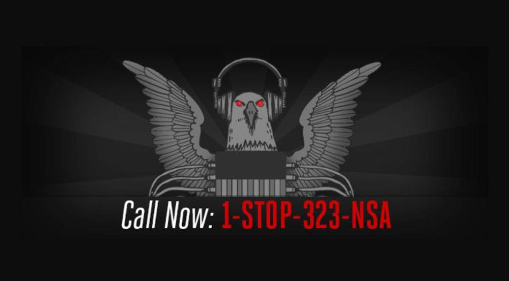 EFF bruker denne plakaten i sin kampanje mot den amerikanske etterretningstjenesten NSA.