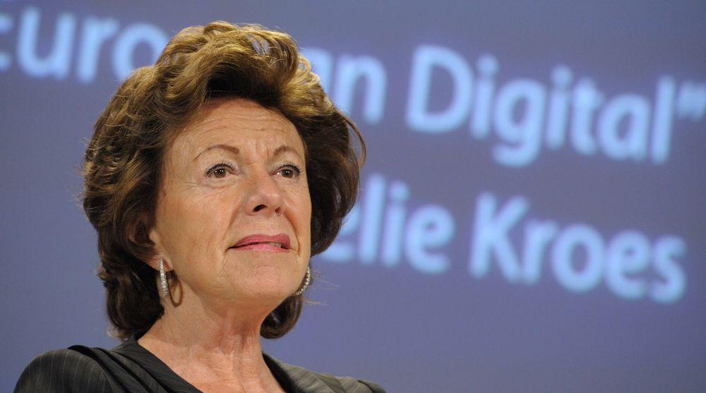 Neelie Kroes kjemper videre for et felles-europeisk telekom-marked, hvor landegrensene ikke utgjør noen større hindring. Den nødvendige lovgivningen kan være innført allerede om et drøyt år.