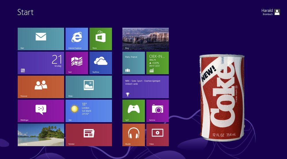 Flere har begynt å sammenligne Windows 8 med Coca-Cola Companys lansering av Coke med ny oppskrift i 1985. Det opprinnelige produktet ble relansert etter bare 11 uker.
