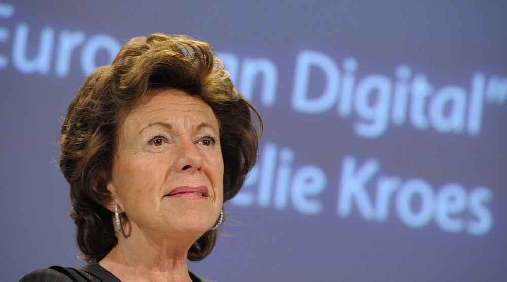 Neelie Kroes er visepresident i EU-kommisjonen med ansvar for EUs digitale agenda. Hennes kanskje mest vellykkede prosjekt til nå vært kampen mot høye roamingavgifter, men Kroes har ikke tenkt å gi seg før avgiftene er helt borte.