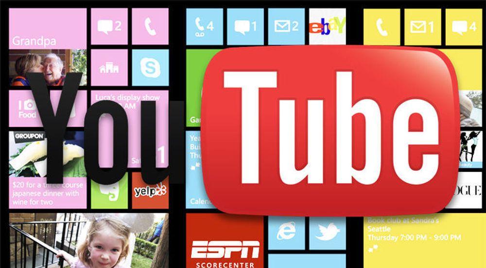 Microsoft fjerner ikke YouTube-appen