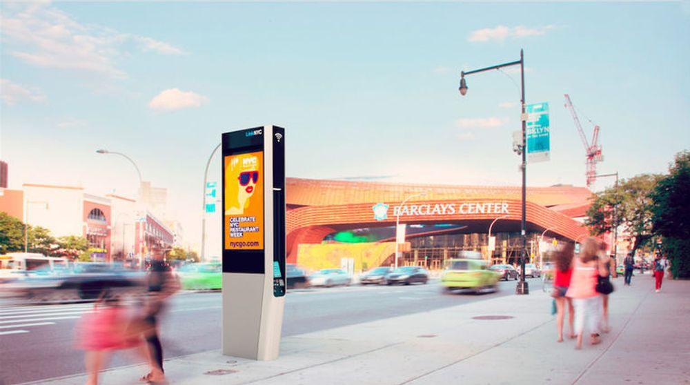 Den store, reklamefokuserte varianten av kiosken.