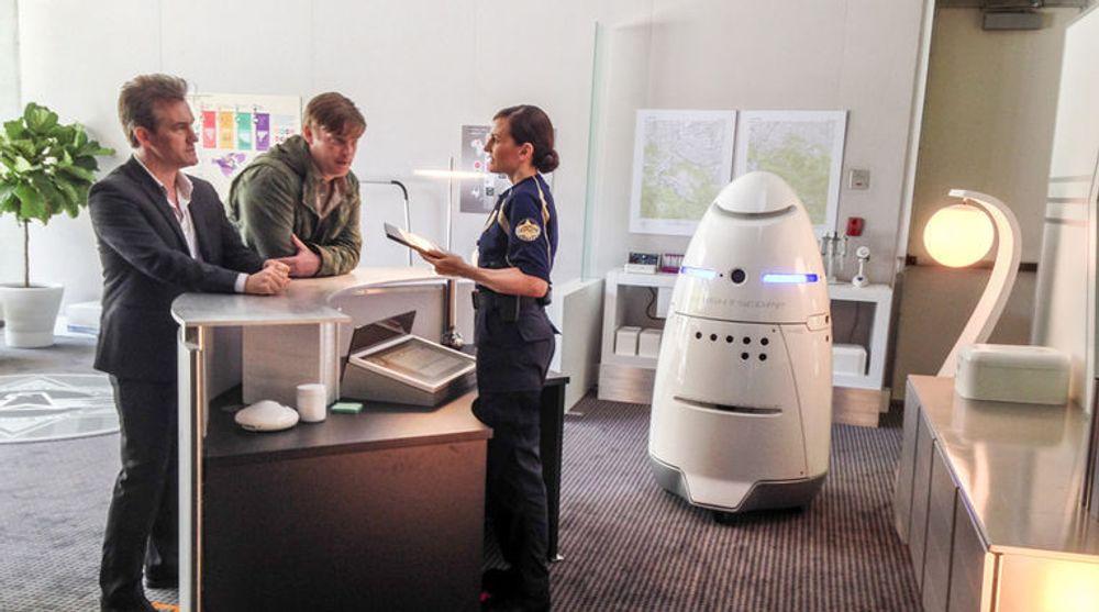 På sikt kan kanskje K5-roboten også erstatte vakten i skranken, men foreløpig er patruljering det mest aktuelle bruksområdet.