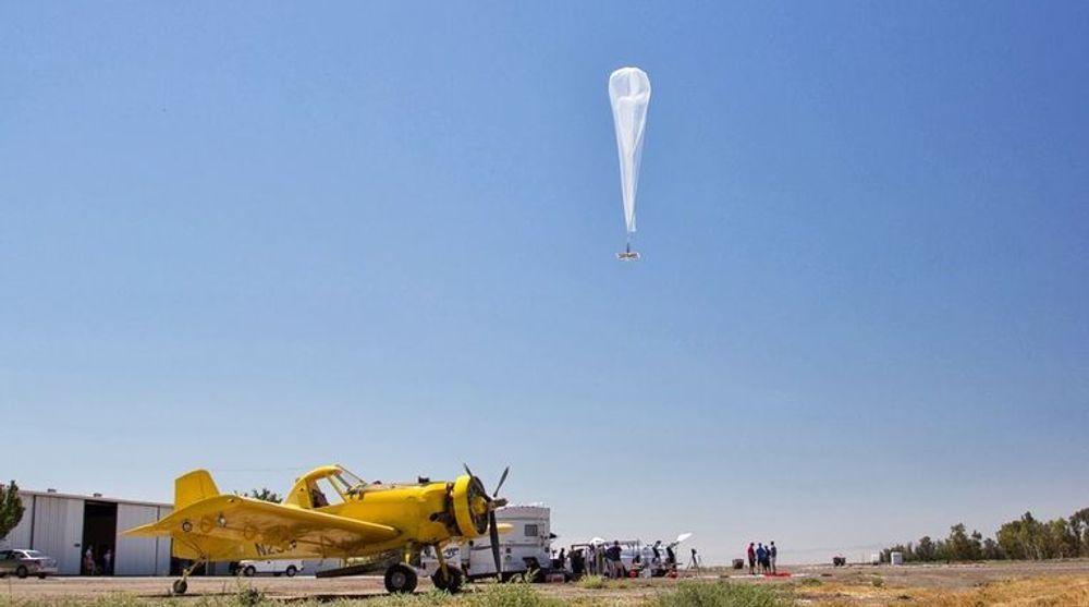 Slik ser Project Loon-ballongen ut.