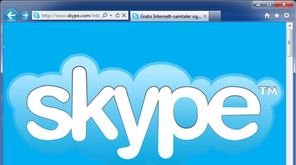 Tester Skype i nettleseren