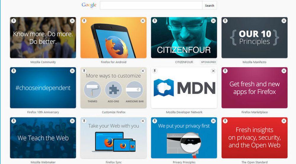 Mozilla viser til prinsippene om åpent nett, personvern og andre vesentlige momenter - men mellom alt dette vil det også komme annonser.
