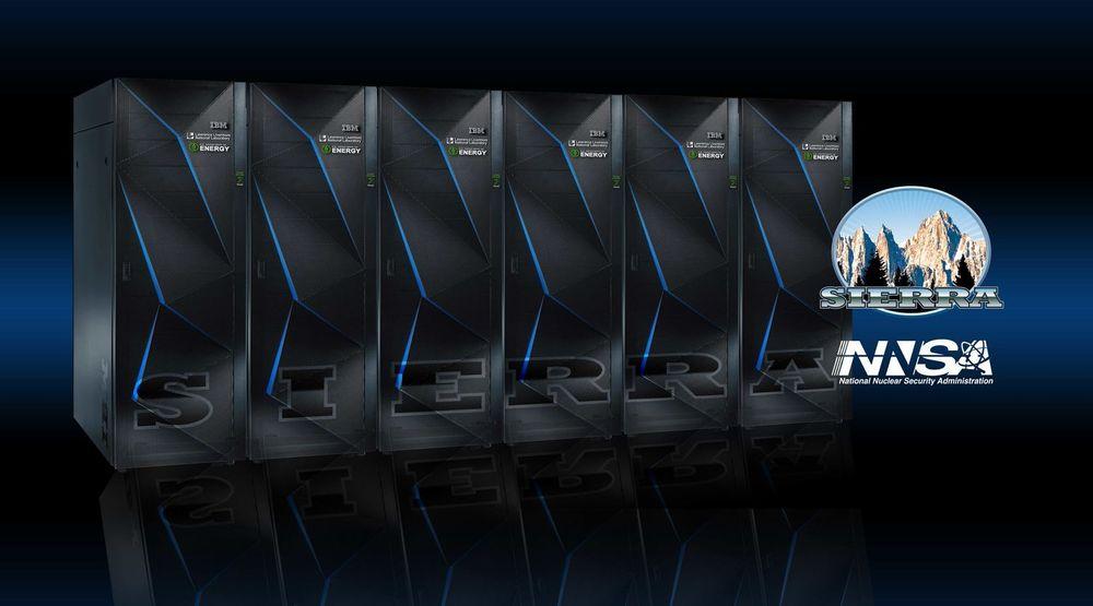 Modulene til superdatamaskinen Sierra kan bli seende slik ut.