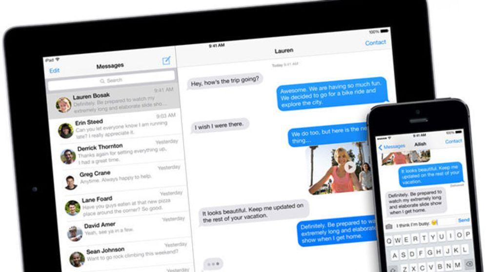 """""""De blå"""" meldingene på Apple-enheter representerer iMessage-meldinger. Mange har opplevd å ikke motta vanlige tekstmeldinger etter å ha byttet til andre leverandører, men nå kommer Apple med løsningen."""
