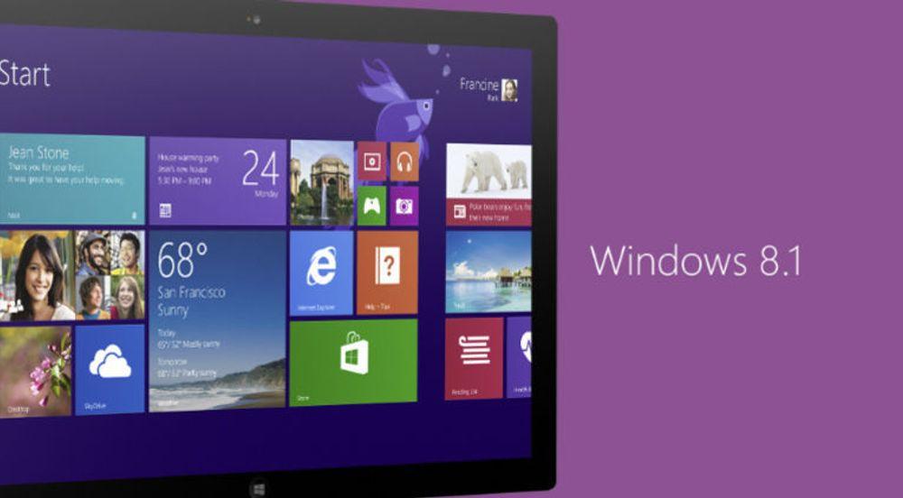 Windows 8.1 har vokst merkbart over den siste måneden.