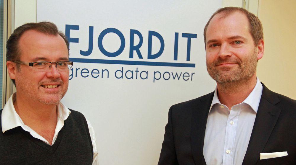 Helge Gallefoss og Petter Danbolt i Fjord IT mener det er stort behov for en europeisk nettsky. Selskapet har fått napp hos flere store aktører i Tyskland.