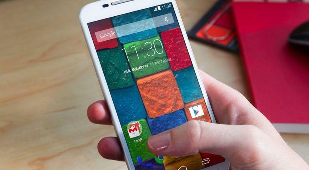 Motorola Mobility skal fortsatt selge smartmobiler med egen merkevare nå som selskapet har blitt kjøpt av Lenovo. På bildet vises smartmobilen Motorola Moto X.