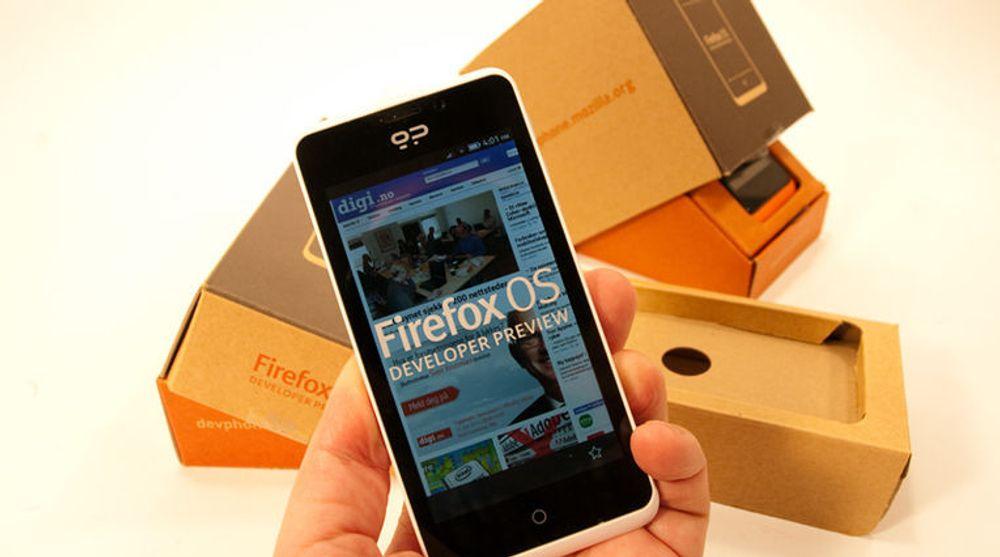Geekphones har produsert to utviklertelefoner med nye Firefox OS. Som nå er på vei til heldige vinnere.