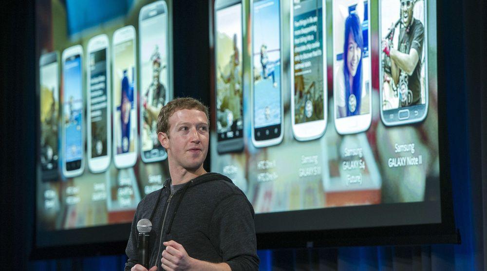 Facebook Home har etter alle solemerker fått en dårlig start. Her er toppsjef Mark Zuckerberg ved lanseringen av produktet i forrige måned.