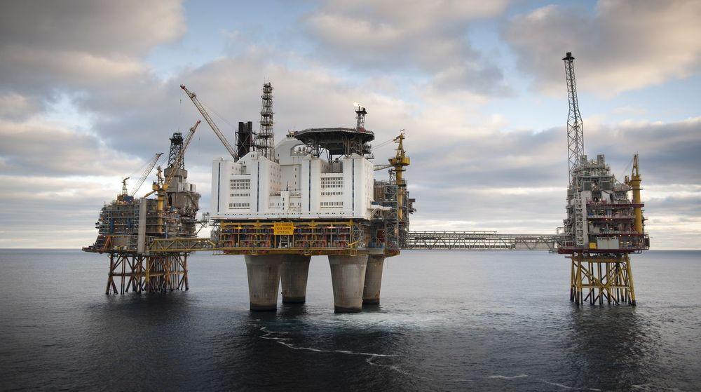 Statoil har som intensjon å tildele en storkontrakt til Bouvet. På bildet ser vi Oseberg-feltet, en av Statoils viktigste pengemaskiner.