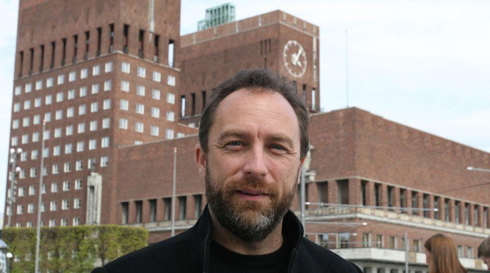 Wikipedia-grunnlegger Jimmy Wales under en besøk i Oslo i mai 2008.