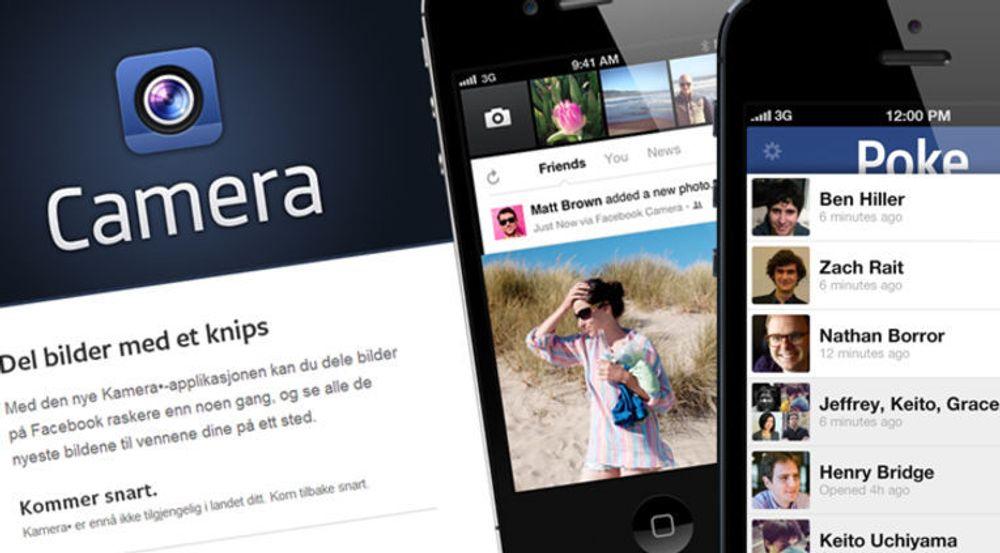 Over og ut for Camera og Poke, to klonede apper som aldri ble noen suksess for Facebook.