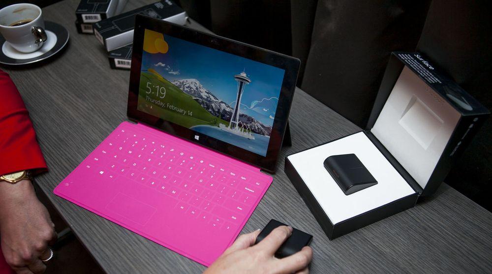 Nettbrettet Surface RT vekker ingen begeistring, verken med eller uten tastatur og mus.
