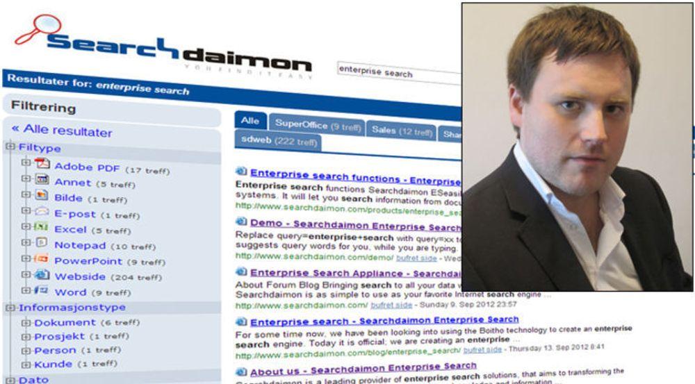 ÅPNER OPP: Medgründer og teknologidirektør Runar Buvik i søkeselskapet SearchDaimon.