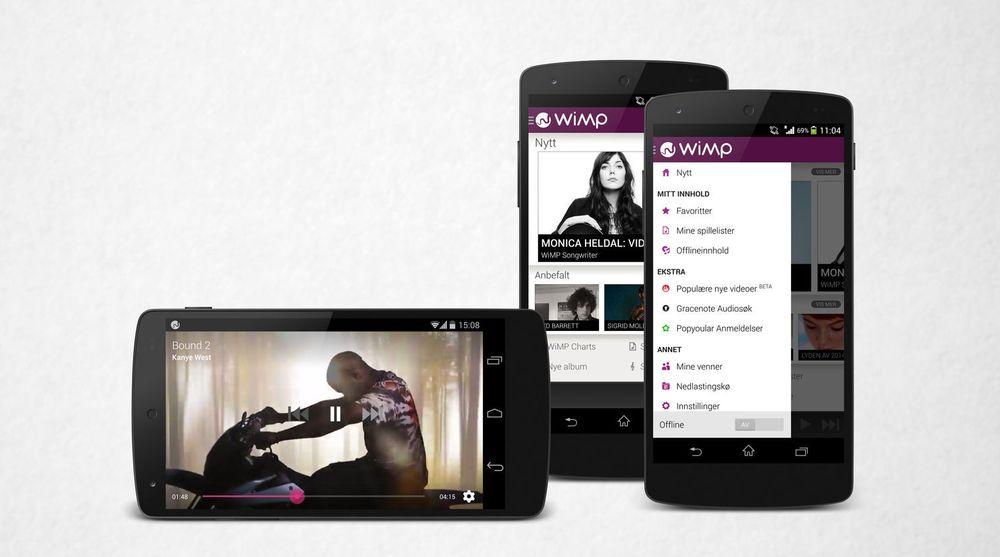 Musikkvideo, i første omgang på Android-mobiler og deretter på iOS, er en av nyhetene i den nye versjonen av strømmetjenesten Wimp. Et eget musikkmagasin og cd-lyd på PC og Mac til HiFi-abonnenter er også blant nyhetene.