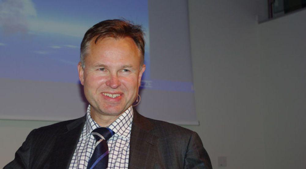 Konsernsjef Øystein Moan gleder seg over at Visma økte omsetningen i skyen med 56 prosent.