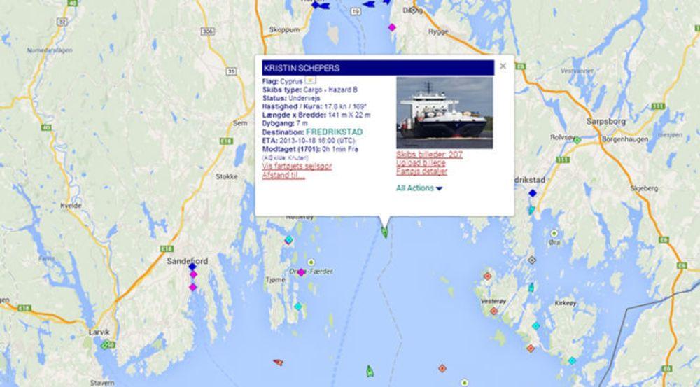 Nettjenesten (finnes også som app) til Marinetraffic.com kombinerer AIS (Automatic Identification System) med Google Maps og lar enhver som vil følge med på internasjonal skipsfart. Eksperter i Trend Micro har påvist at sårbarheter i AIS gjør det mulig å sabotere også kommersielle og kritiske tjenester som bygger på AIS.