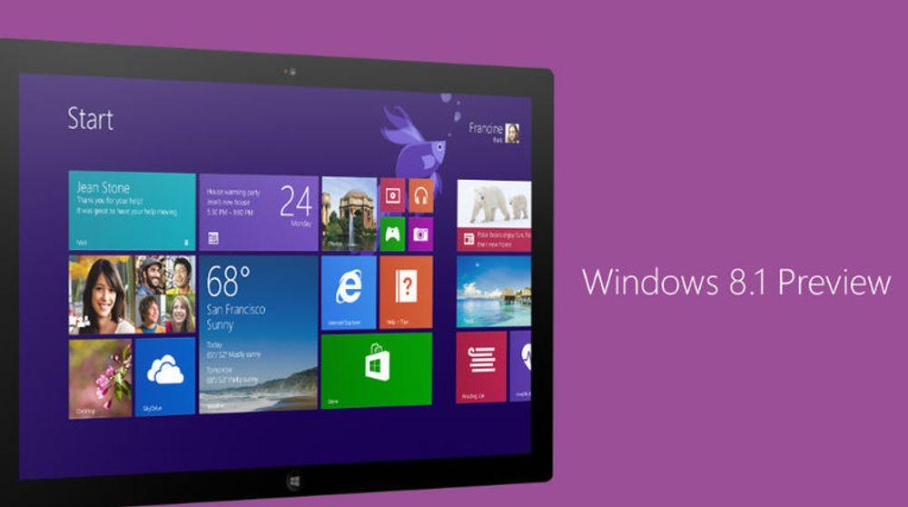 """Det er litt uklart hvorfor Windows 8.1-oppdateringer er merket med """"Preview"""" i Windows Store. For alt annet tyder på at det er fullversjonen som nå er tilgjengelig."""