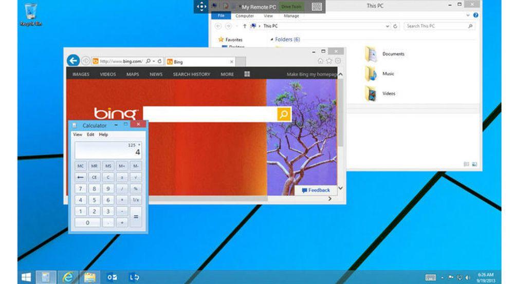 Remote Desktop fungerer nok best på nettbrett. På mobilskjerm blir det meste litt vel smått. Men det er mulig å bruke zoom, selv om denne bare har to trinn. Navigeringen på skjermen kan skje ved hjelp av en muspeker eller multitouch. Her er det Android-utgaven som vises.