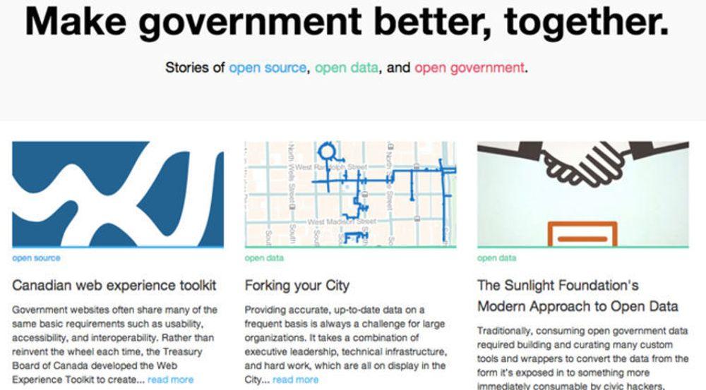 Nå får også myndigheter et eget globalt nettsted for deling og inspirasjon av fri programvare og åpne data.