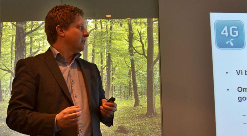Frode Støldal presenterte i dag Telenors planer innen «4G».