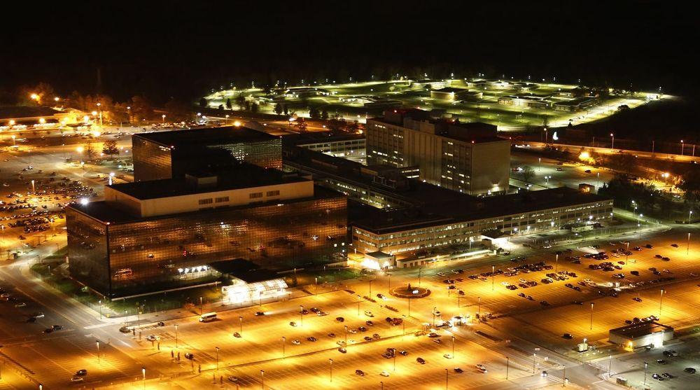 VERSTINGSTEMPEL: Bildet er et av ytterst få tatt av USAs etterretningsorgan National Security Agencys (NSA) hovedkvarter ved Fort Meade i Maryland som er tatt av private.