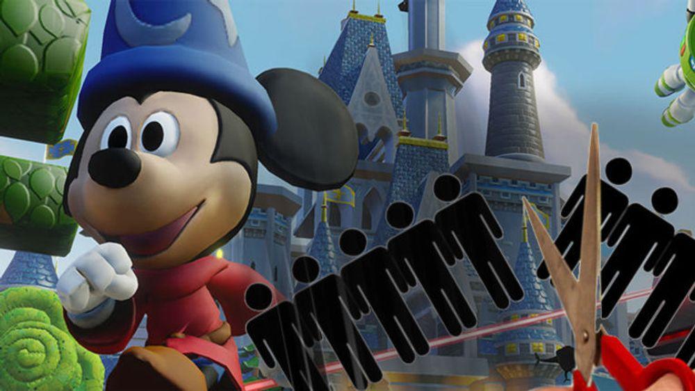 KAPPER: Færre spill og utviklere hos Disney, som forsøker å snu underskuddene i sin interaktiv-avdeling.