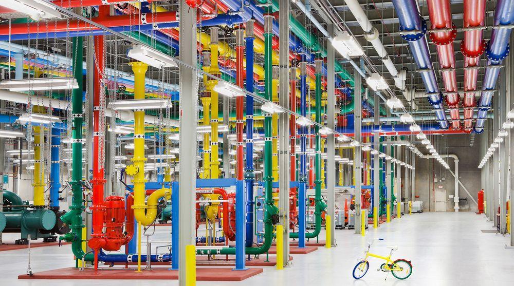 Google skal helt eller delvis skifte til MariaDB der selskapet i dag bruker Oracles MySQL. Bildet er fra et av Googles datasenter.
