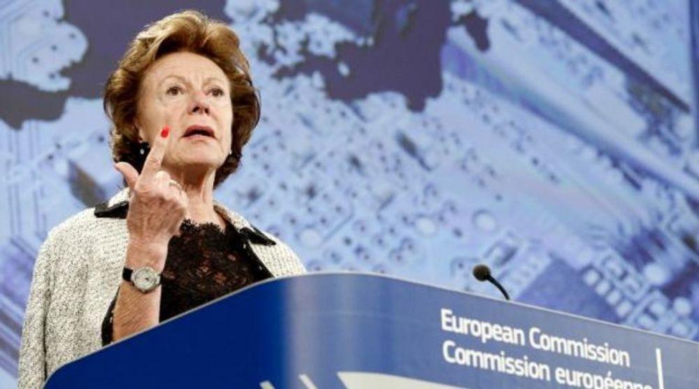 TVINGER FREM FELLES MOBILMARKED: EUs mektige digitalkommissær Neelie Kroes.