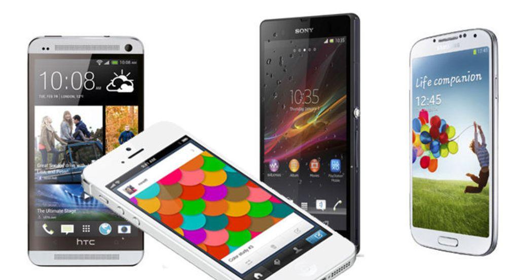 Salget av smartmobiler fortsetter å vokse, særlig på grunn av økende etterspørsel etter lavprismodeller med Android eller Windows Phone.
