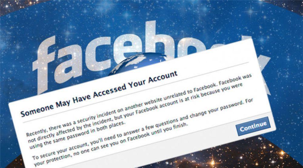 Facebook ber brukere bytte passord dersom det mistenkes at passordene de benytter har blitt gjort tilgjengelig for ondsinnede via lekkasjer hos andre aktører.