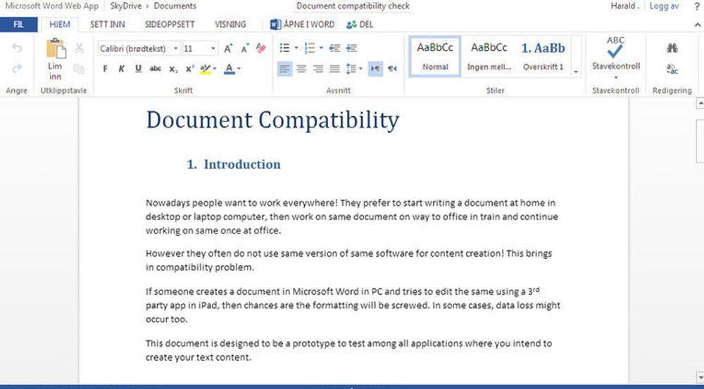 Microsoft har oppdatert blant annet selskapet Word Web App, slik at flere brukere enklere kan samarbeide om redigeringen av et delt dokument.