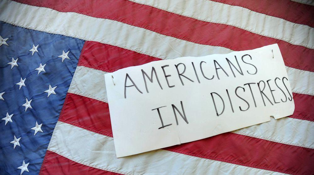 Fra anti-NSA demonstrasjon i Portland i august. USAs forsvarsindustri frykter skandalen skal undergrave deres eksport.