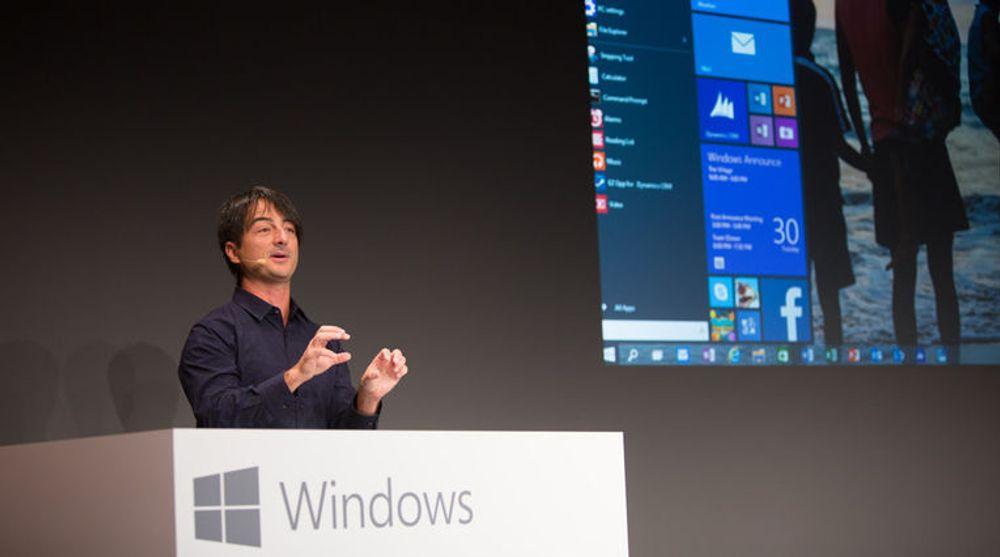 Windows-direktør Joe Belfiore viste tirsdag fram en tidlig utgave av Windows 10 med retur av den berømmelige startmenyen i ny drakt.