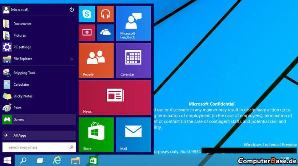Det som antakelig blir hetende Windows 9 har vært gjenstand for mange lekkasjer i lengre tid, ikke minst av Microsoft selv. Først i morgen kveld vil selskapet presentere nyhetene offisielt.