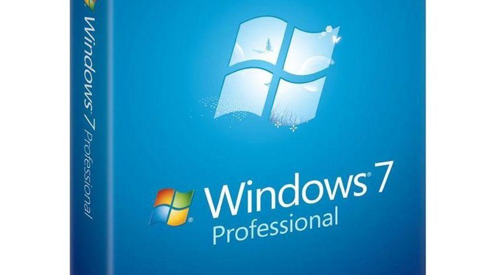 Windows 7 Professional er ikke berørt av den kommende leveransestoppen.