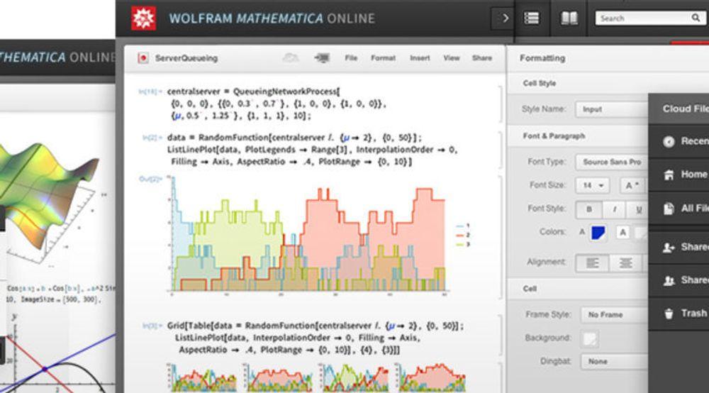 Mathematica kan nå tilgjengelig via internett i enhver nettleser.