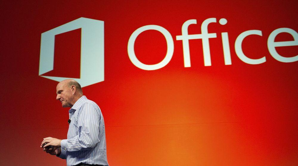 Ballmer bekreftet i går at Office-pakken kommer også til rivalens nettbrett, Apple iPad.