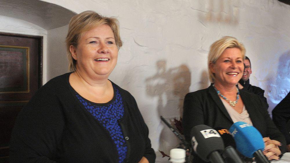 Arild Haraldsen tror regjeringen Solberg & Jensen vil reformere forvaltningen for første gang på 40 år, redusere antall departementer og gjennomføre en kommunereform. De kommer til å få behov for sitt eget slagord, «økt gjennomføringskraft».