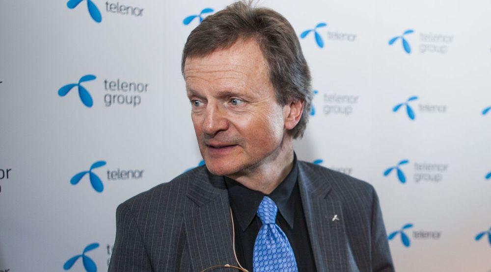ANKER: Telenor nekter å betale boten på 5 millioner kroner. Her konsernsjef Jon Fredrik Baksaas.